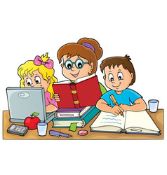 Home schooling theme image 1 vector