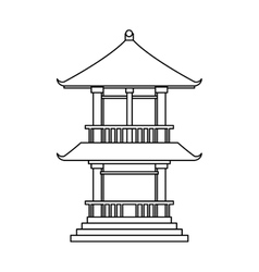 Isolated china tower design vector image