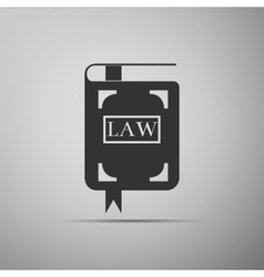 Law book icon vector
