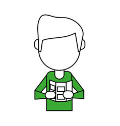 man avatar icon image vector image