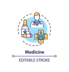 Medicine concept icon vector