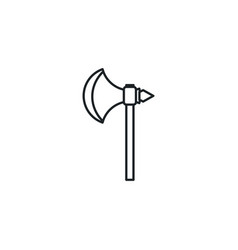 Medieval ax flat style icon vector