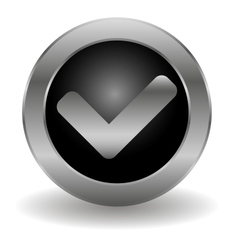 Metallic validation button vector