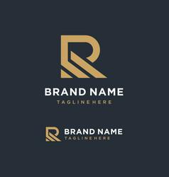 Minimalist letter r logo design inspiration vector