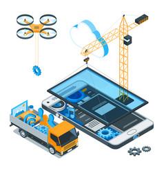 mobile app development concept 01 vector image