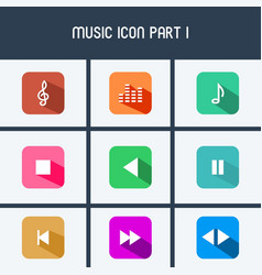 Music icon part i vector