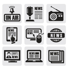 newspaper media icons vector image