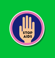 paper sticker on stylish background of gays stop vector image