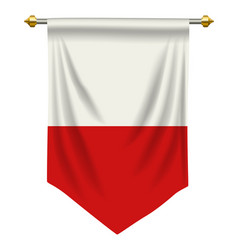 Poland pennant vector