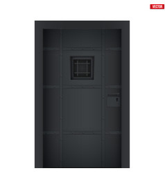Prison jail cell door vector