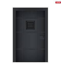 Prison jail cell door vector