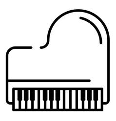 retro grand piano icon outline style vector image