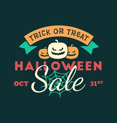 Retro vintage happy halloween badge halloween sale vector
