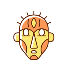 Ritual masks rgb color icon vector