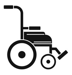 Safety wheelchair icon simple style vector