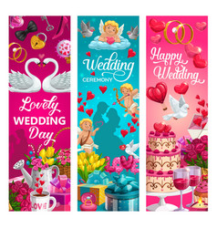 save date symbols love wedding ceremony vector image