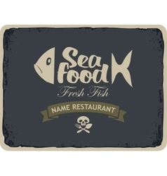 Seafood restaurants with fish vector
