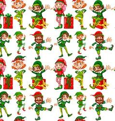 Seamless christmas vector image vector image