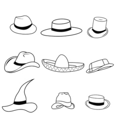 Set classic hats vector