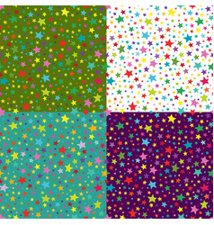 set of seamless simple pattern with vector image