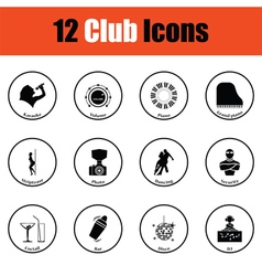 Set of twelve Night club icons vector image