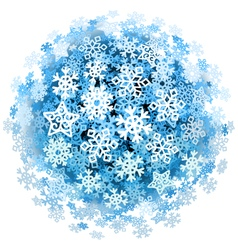 Snowflakes Sphere vector