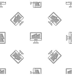 Solving business strategy pattern seamless vector