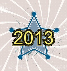 star and 2013 new year background design vector image