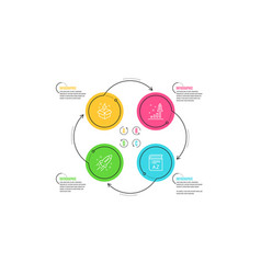 Startup rocket development plan and creative idea vector