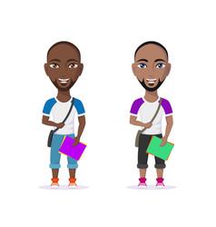 student man character vector image