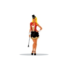 Tamer circus girl vector image