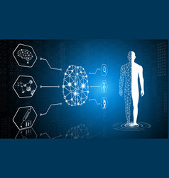 Technology medical science in future vector