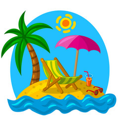 tropical island beach vector image