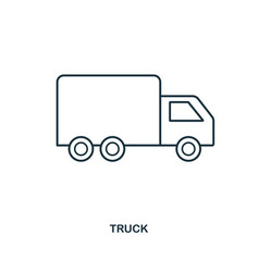 truck icon outline style icon design ui vector image