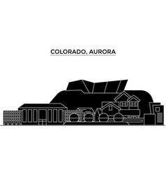 Usa colorado aurora architecture city vector