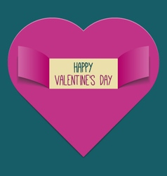 Valentines Day background or greeting card vector image