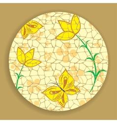 Vintage Mosaic Flower vector