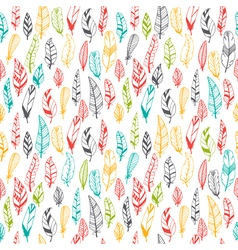 Vintage seamless pattern with hand drawn feathers vector