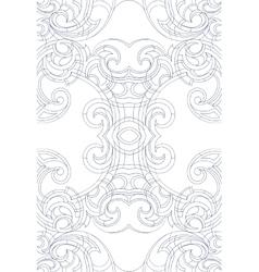 Art Nouveau style ornament vector image