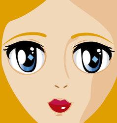 manga face 2 vector image vector image