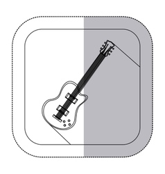 Middle shadow monochrome sticker with electric vector