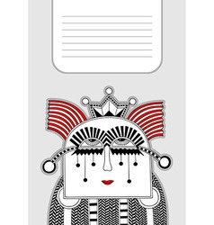 Modern cute ornate doodle fantasy monster vector
