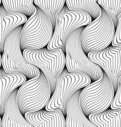 Seamless pattern with abstract petals vector