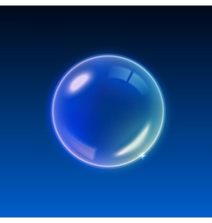 Transparent Multicolored Soap Bubbles background vector image