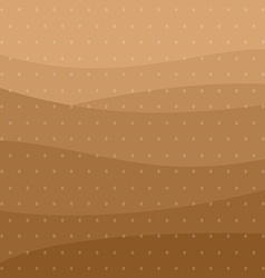 Coffee seeds and brown waves background pattern vector image