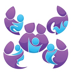 family stickers and forms vector image vector image