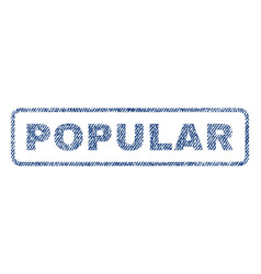 popular textile stamp vector image