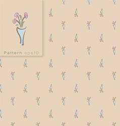 Seamless vintage pattern vector image
