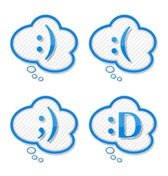Speech Bubbles with Smiles vector image