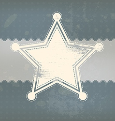 star symbol with vintage background vector image vector image